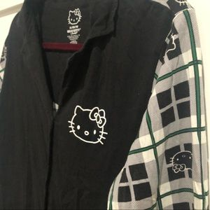 Hello Kitty plaid sleep shirt, Adult XL